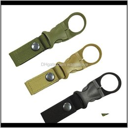buckle water bottle clip NZ - Military Nylon Webbing Buckle Hook Water Bottle Holder Clip Edc Climb Carabiner Belt Backpack Hanger Camp Cca12533 100Pcs Zxtux Gadget Fush0