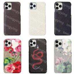 Luxurys Designers Leren Telefoon Gevallen voor iPhone 12 Mini 11 PRO MAX XS XR X 8 7 Plus Samsung S20 S21 Opmerking 20 Fashion Print Back Cover Case