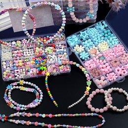 24 Stil Moda Çocuk Boncuk El Yapımı Bilezikler Kolye Geliştirme Zeka Geliştirme İşleme yeteneğini geliştirin