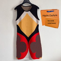 Vestidos de impresión de mujeres Vestido con paneles de moda para mujer Casual Sin mangas largas faldas de alta calidad Vintage Falda larga en venta