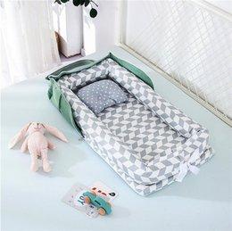 Venta al por mayor de Cunas para el bebé Portátil Baby Nest Bed for Boys Girls Cama de viaje Cuna de algodón infantil Cuna Baby Baby Baby Beinet Bed 997 V2
