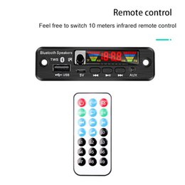 usb mp3 player for car aux Australia - Color Screen 5 V MP3 WMA WAV Decoder Board TWS Bluetooth 5.0 Wireless Audio Module USB AUX TF FM Radio For Car Accessories & MP4 Players
