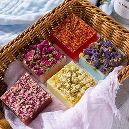 Rose handmade soap, essential oil jasmine lavender plant flower and skin beauty souvenir Moisturizing Face Cleaning Soap on Sale