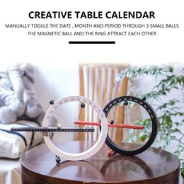 metal desk calendar UK - Nordic style creative fashion time perpetual calendar manual desk home decoration birthday gift
