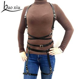Women Sex Leather Top Body Harness Bondage Bra Waist Belt Strap Corset Bustier