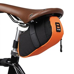 cushion storage bags Canada - Bicycle Small Bag Portable Waterproof Road Bike Broken Wind Back Seat Riding Cushion Saddle Accessories Equipment Storage Bags