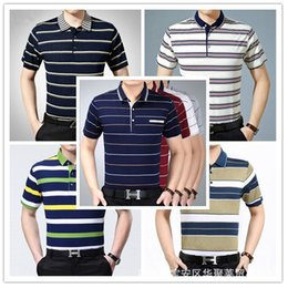 Wholesale dad shirts for sale - Group buy 2021 Summer Middle aged Elderly Short Sleeve Loose and Comfortable Lapel Men s T shirt Dad