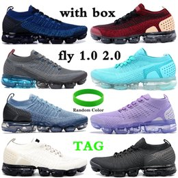 Wholesale pink tours for sale - Group buy With Box fly men running shoes gym blue triple black tour yellow beige rose gold women sneakers US