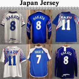 98 Japão Soma Akita Okano Nakata Retro Mens Curta Manga Longa Soccer Jerseys National Team Kawaguchi Away Kazu Hattori Football Shirt em Promoção