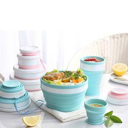 Vaisselle de la cuillère en silicone portable pour les bols pliables en plein air Outils de cuisson Matériaux de qualité alimentaire CPA3425 en Solde