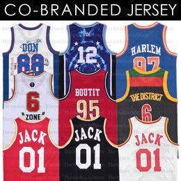 Vente en gros Rapper Jersey 88 Don Pas Limit Travis Scott 01 Jack The District Harlem Villanova Co-Brand, co-marquedisé