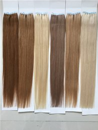 12-26 pcs 100% Brazilian Remy Straight tape hair Human Hair Extensions