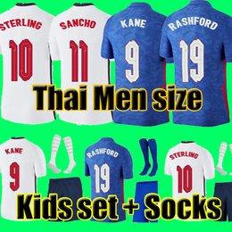 Top Thailand quality thai ENGLAND football soccer jerseys 2021 KANE STERLING RASHFORD MOUNT LINGARD VARDY DELE 21 22 national shirt men + kids kit sets socks uniform on Sale