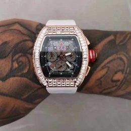 Herenhorloges mannelijke luxe siliconen voor man sport des mannen multifunctionele kwarts 6-pins chronograaf rm horloge