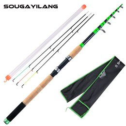 Boat Fishing Rods Sougayilang 2 Color Feeder Rod 3.0-3.6m Spinning Carbon Fiber Travel And Spare Tip Pole Fish Tackle Pesca on Sale