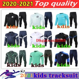 tracksuit france training 2021 - 2021 national team kids soccer tracksuit France survetement 20 21 Argentina Algeria Italy boys football jacket sportswear training suit Jogging