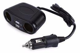 Neue 4way-Auto-Zigarettenanzünder-Erweiterungsbuchse-Splitter Netzteil für Fahrzeugtrunk-USB-Ladegerät 3.1A 150W für mobile phonefree im Angebot