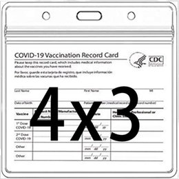 Wholesale CDC Vaccination Card Holder Files Immunization Record Vaccinated Cards Protector Cover 3x4 Clear Vinyl Plastic Sleeve Waterproof Resealable Zip