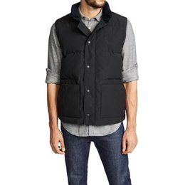 Top quality men's winter down vest outdoor classic casual warmth white goosedown gilet coat fashion veste for man and wome style 5 color on Sale