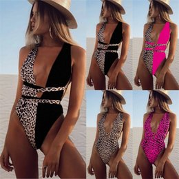 swimwear preto do emagrecimento venda por atacado-2020 Sexy Slim Fit Preto Com Leopardo One Peça Swimsuit Fechado Swimwear Fechado Push Up Corpo Natação Banheira Terno Mulheres Para Piscina Praia Z2