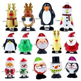 Wind-up enrolamento andando Papai Noel Elk Pinguim Boneco de Neve Clockwork Brinquedo Presente de Natal em Promoção