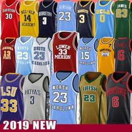 23 Michael Vince JD Carter College Basketball Jersey Allen Ncaa Iverson North Carolina State University Toni Russell Kukoc Westbrook Dwyane James Wade Harden Curry