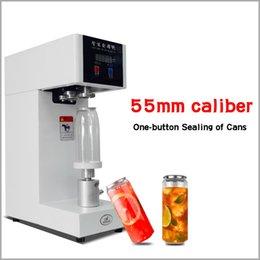 venda por atacado Máquina de vedação do selante da garrafa da bebida da bebida do selante de 55mm para 330ml / 500 / 650ml Chá de leite / café do animal de estimação pode selante 220V / 110V
