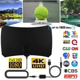 Wholesale 1800 Miles 1080P Indoor Digital TV HDTV Antenna Radius Surf Fox Antennas Receiver Amplifier Mini DVB-T T2 Aerial UHF VHF