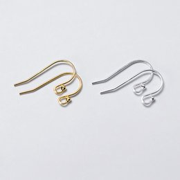 sterling silver earring wires hooks Canada - 4pcs lot 100% 925 Sterling Silver Women Earring Hooks Handmade S925 Silver Female Connector Ear Wire Hook DIY Jewelry Findings