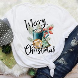 Wholesale cookie clothing resale online - Year Cartoon Bake Cookies Women T Shirts s Holiday Merry Christmas Graphic Tees Clothes Print Tops Lady Female Shirt
