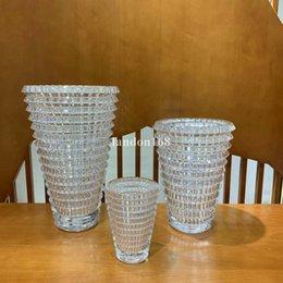 Kristallvase Wohnzimmer Getrocknete Blumen Transparent Dill Home Decoration Zubehör Tischplatte Blume Vasen im Angebot