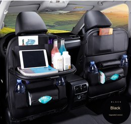 Wholesale Car Interior Accessories 1PC PU Leather Car Seat Back Storage Hang Bag Multi-functional IPad Mini Holder Universal Back Seat Organizer for Kids Storage