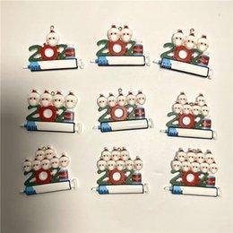 Vente en gros DHL 2021 Ornements de décoration de Noël Ornements de quarantaine de 1-9 têtes ACCESSOIRES PENDENCE DIY ARBRE AVEC RODE