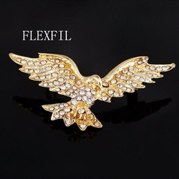 eagle pins Australia - FLEXFIL Brooch Pin Badges High quality Luxury eagle Brand Lapel Pin Suit Coat Hats wholesale Accessories Decorated