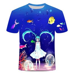 cartoon t shirts mens NZ - New summer ice t-shirt mens and womens short-sleeved student tide brand Japanese man shirt compassionate couple wild Japanese