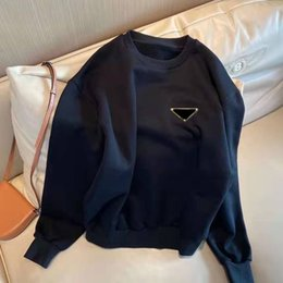 Wholesale hot women hoodies for sale - Group buy Women Hoodie Sweatshirts With Triangle Letters Long Sleeves Lady Tees With Zippers Back Adjust Fashion Style Hoodies Hot Tops