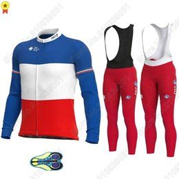 Wholesale Racing Sets FDJ Cycling Jersey Long Sleeve Set France Clothing Road Bike Suit Bicycle Tops Pant MTB Maillot Cyclisme