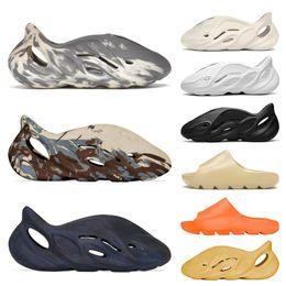 Heren Dia Schoenen Schuim Runner Mens Sandalen MX Cream Clay Bone Ararat White Black Moon Gray Mineral Blue Desert Sand Enflame Orange Womens Slippers 36-45