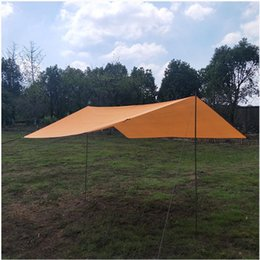 Discount outdoor tent pink Portable Tent Tarp Hammock Rain Instant Shelter Sunshade For Camping Backpacking Tents Outdoor And Shelters