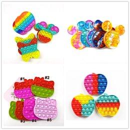 Tik tok toys poo-its Kids Novel Push Pop Fidget desk Toy Bubble Poppers Sensory Toy Funny fidgets Anti-stress Squishy Stress ball Reliever gifts go bang H12101 on Sale