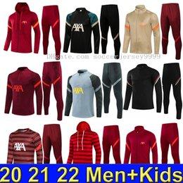2021 2022 Erkek Futbol Eşofman Survetement De Futbol Eğitim Suit 21 22 Erkekler Çocuklar Maillot Tam Fermuar Ceket Eşofman Spor