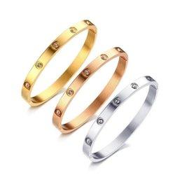 Designer de luxo jóias pulseiras de aço inoxidável 18k correntes de ouro homens moda amor pulseira pulseira mulheres atacado em Promoção