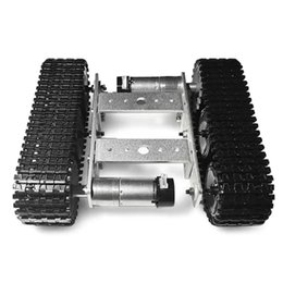 SZDoit TP100 Mini Aluminum Alloy RC Tank Chassis DIY Kit on Sale