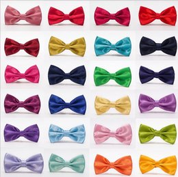 Men Bow Tie Plain colour bowknot Formal Necktie Man Mixed Solid Color Butterfly Wedding Party Fashion Business Weddinga Bows Ties wmq936 on Sale