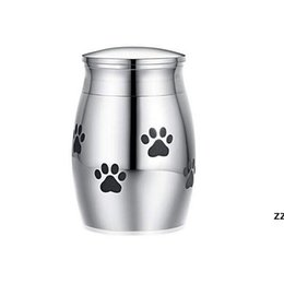 Wholesale Cat Carriers Crates Houses Small Cremation Urn for Pet Ashes Mini Keepsake Stainless Steel Memorial Urns Dogs Cats Holder HWD8991 on Sale