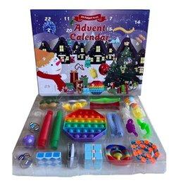 Party favör 24pcs set jul fidget leksaker xmas nedräkning kalender sensory pack advent kalender julklapp cca12675 skicka till sjöss