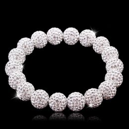 fashion strings bracelets UK - High quality New fashion Austrian Diamond Ball Bracelet women's inlaid diamond Korean hand string beads jewelry