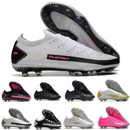 Wholesale top quality mens soccer shoes Phantom GT Elite AG-PRO Believe Men Green Black Football Boots Size 39-45