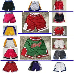 calças de basquete para homens venda por atacado-nba shorts Los Angeles Lakers Chicago Bulls Toronto Raptors ORLANDO MAGIC BROOKLYN NETS Miami Heat Philadelphia ers men basketball shorts