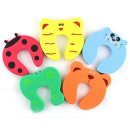 New Care Child kids Baby Animal Cartoon Jammers Stop Door stopper holder lock Safety Guard Finger 840 X2 on Sale